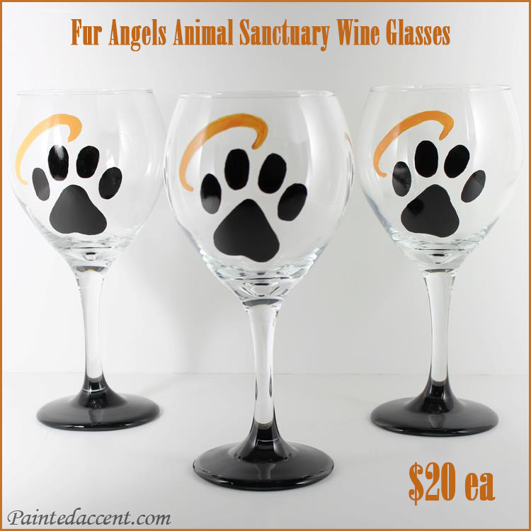 Official Fur Angels Wine Glasses